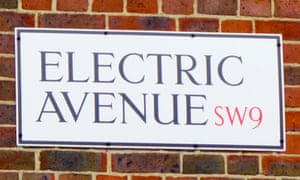 The (pre-electric) Electric Avenue street sign in Brixton.