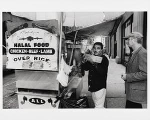 Halal food stand, ca. 2001