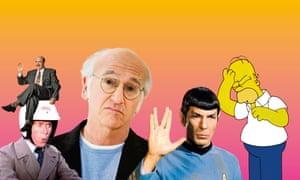 Jeffrey Tambor as Hank Kingsley in The Larry Sanders Show; Michael Crawford as Frank Spencer in Some Mothers Do 'Ave 'Em; Larry David; Leonard Nimoy as Mr Spock in Star Trek; Homer Simpson