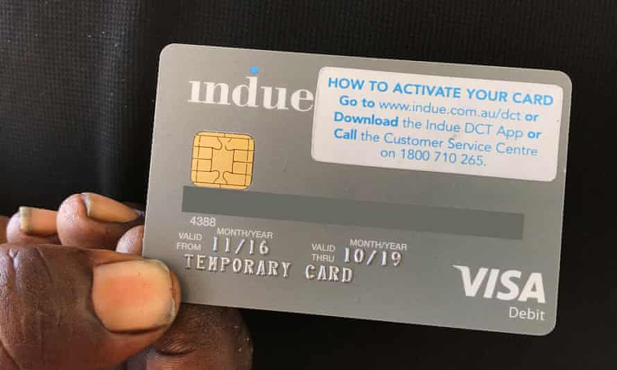 A cashless welfare card, or 'indue card'.