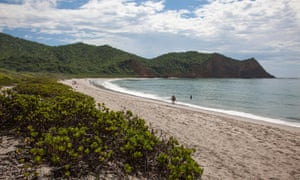 Playa Los Frailes beach in Machalilla national park, near Manta, Ecuador.