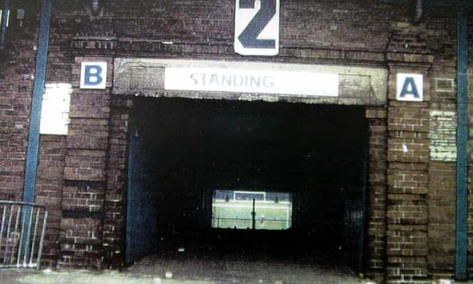 The tunnel at the Leppings Lane end of Sheffield Wednesday's Hillsborough ground.