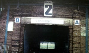The tunnel at the Leppings Lane end, as shown to a jury at Leeds Crown Court in June 2000