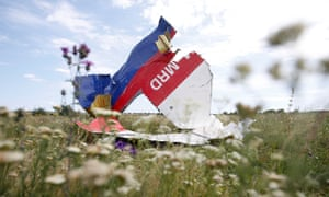 Wreckage of flight MH17