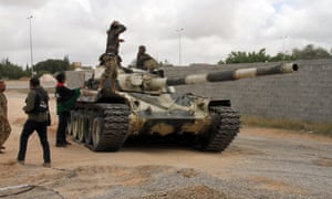 A tank of the UN-backed GNA in Tripoli, Libya