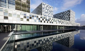 The international criminal court in the Hague, where Boom prosecutes an alleged massacre.