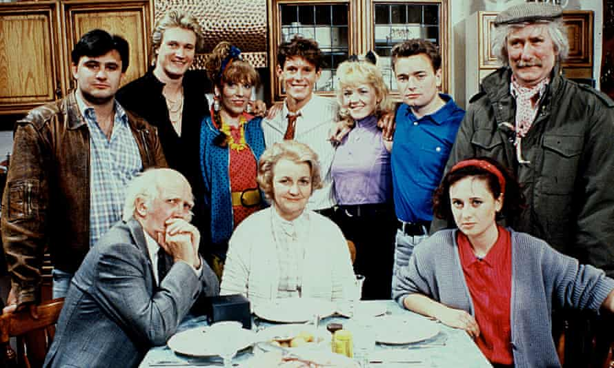 Ronald Forfar, far right, as Freddie Boswell in Carla Lane's sitcom Bread.