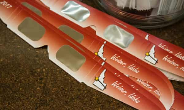 Eclipse glasses for sale at Weiser Classic Candy.