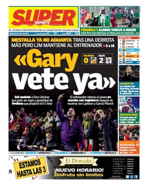Super Deporte's front page