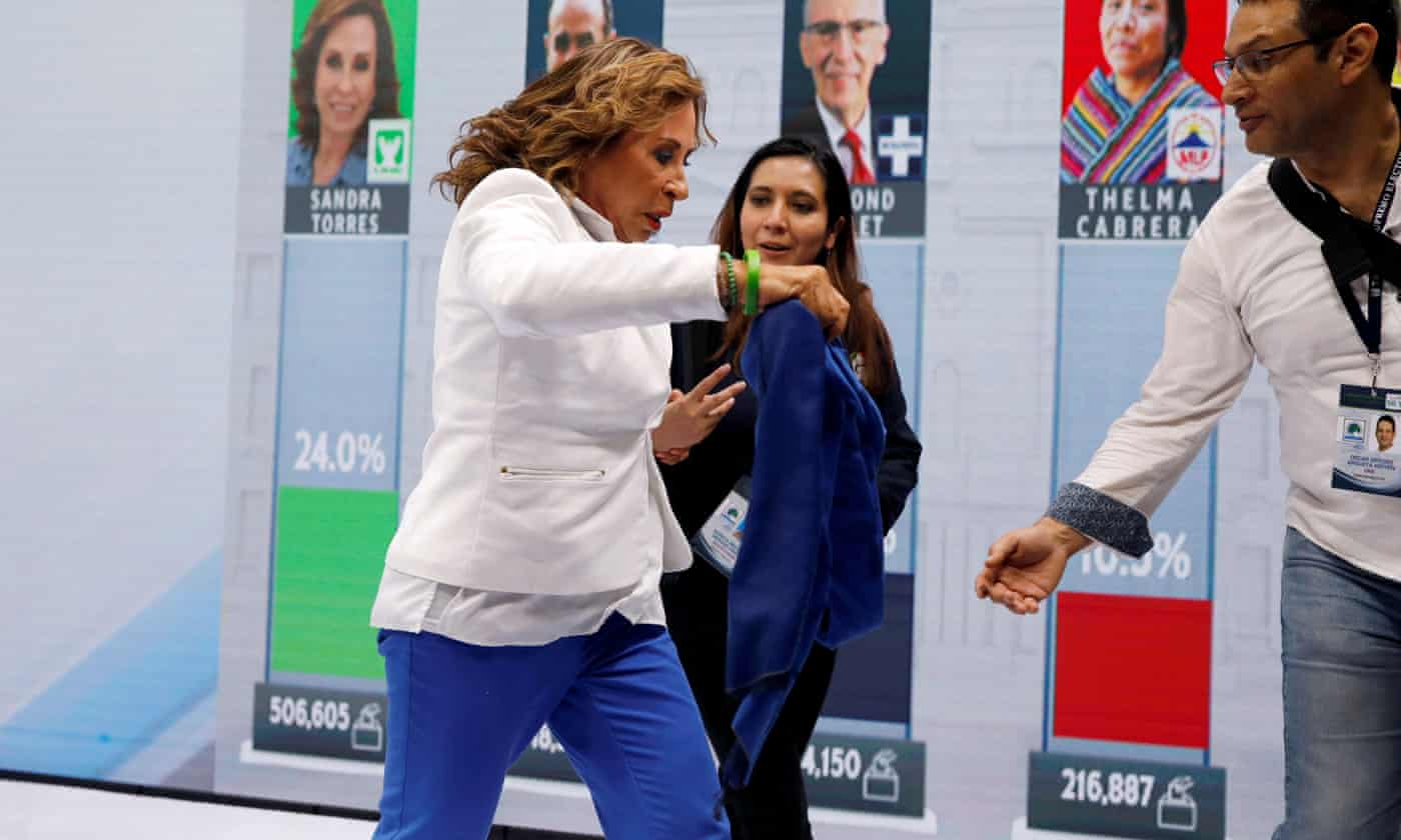 Guatemala election: former first lady Sandra Torres heads for runoff