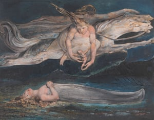 Fall into his cosmos and see things Blake's way … Pity, c 1795, by William Blake (1757-1827).