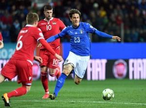 Zaniolo in action for Italy against Liechtenstein in a Euro 2020 qualifier.
