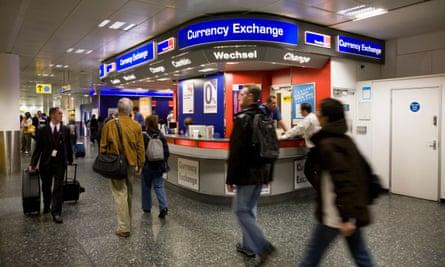A Travelex bureau at Gatwick airport