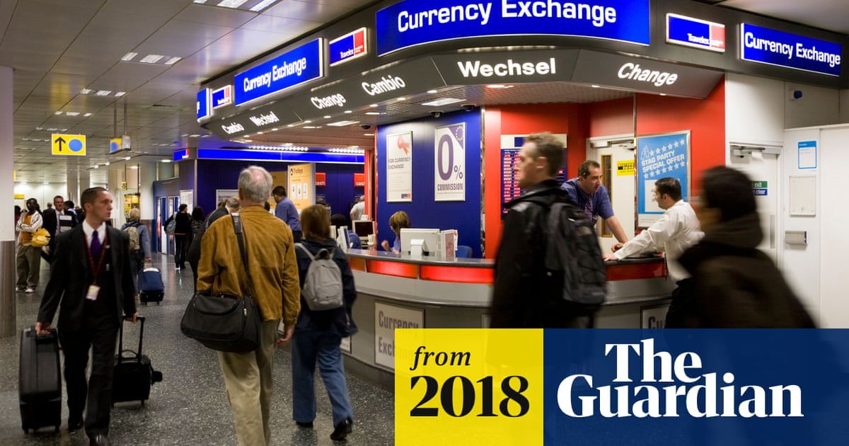 Sterling falls against dollar and euro amid fears of no-deal