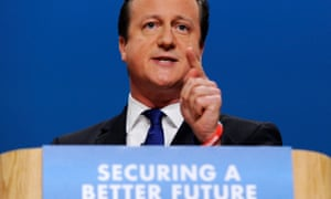 David Cameron addresses the Tory conference in October 2014.