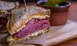 Pastrami sandwich at Mogg