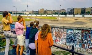 Watching East Berlin … Potsdamer Platz observation platform in 1986.