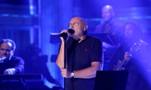 Phil Collins performing on Jimmy Fallon's TV show in October.