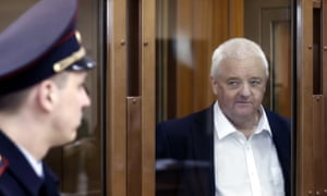 Frode Berg in a Moscow court  before the announcement of the verdict