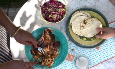 A perfectly seasoned slow-roast pork tacos recipe