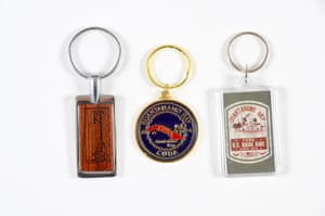 Keyrings come in wood, enamel and plastic