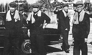 From left: Pol Pot, Noun Chea, Ieng Sary and Son Sen in Phnom Penh, 1975.