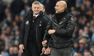 Ole Gunnar oldSolskjær (left) and Pep Guardiola (right) come up against one another again.
