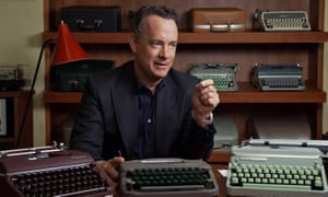 Tom Hanks, with his collection of vintage typewriters