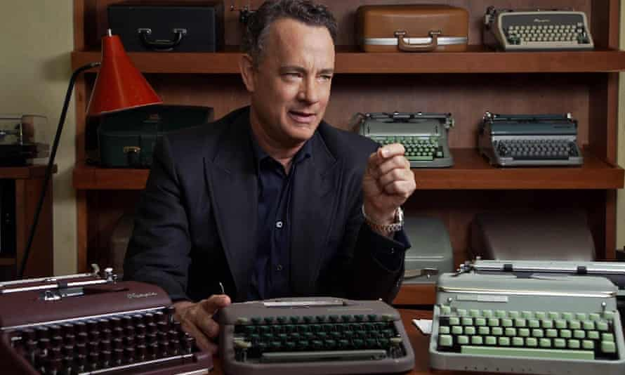 From actor to short story writer … Tom Hanks with several of his typewriters.