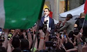 Luigi Di Maio, the M5S leader, in Naples in May