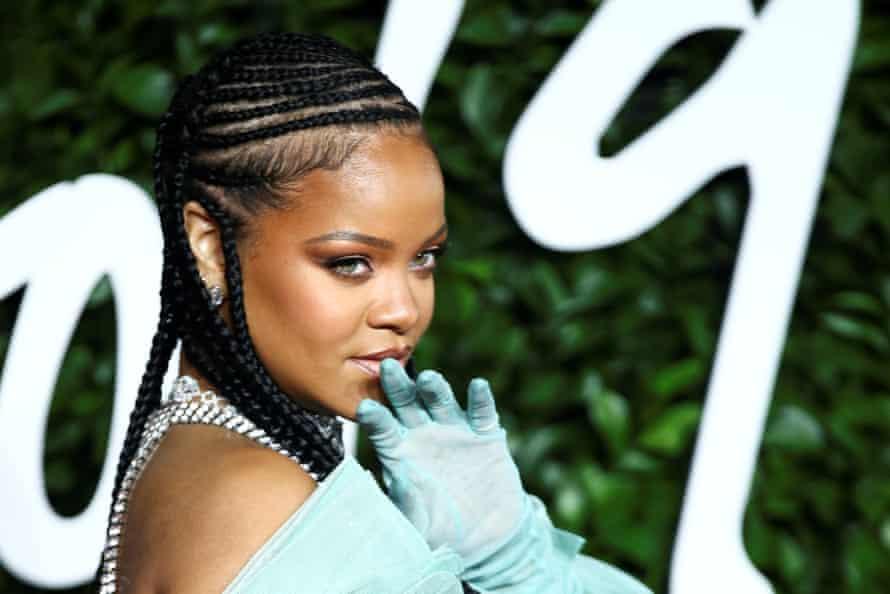 Rihanna at the Fashion Awards in December