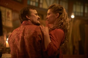 Damon Herriman and Mia Wasikowska in Judy and Punch.