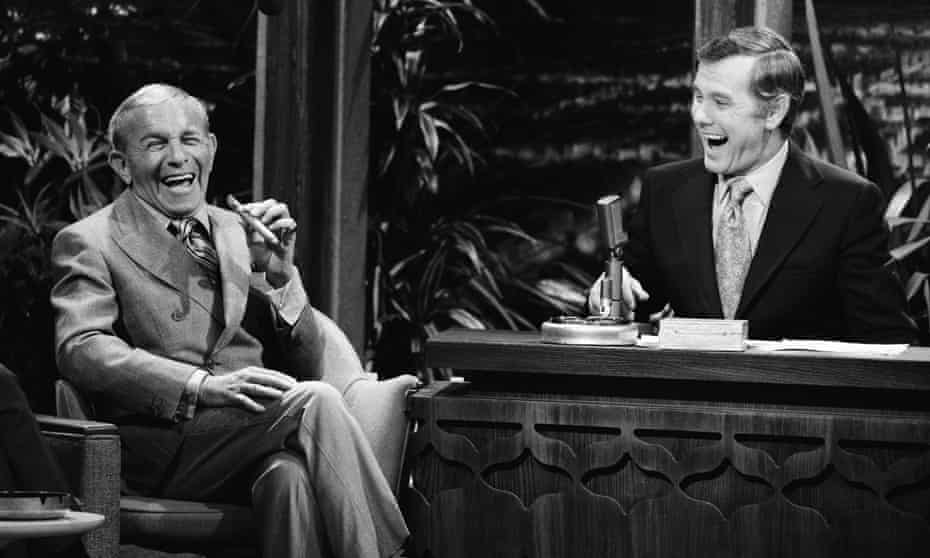 'It was a highly sexualised environment' … Brickman was head writer on The Tonight Show With Johnny Carson (pictured interviewing George Burns).