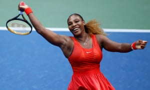 Serena Williams reacts during straight sets victory over Kristie Ahn.