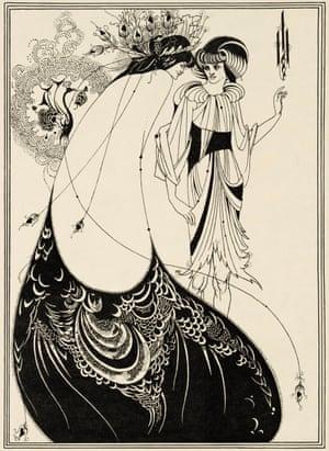 The Peacock Skirt (1893) by Aubrey Beardsley.
