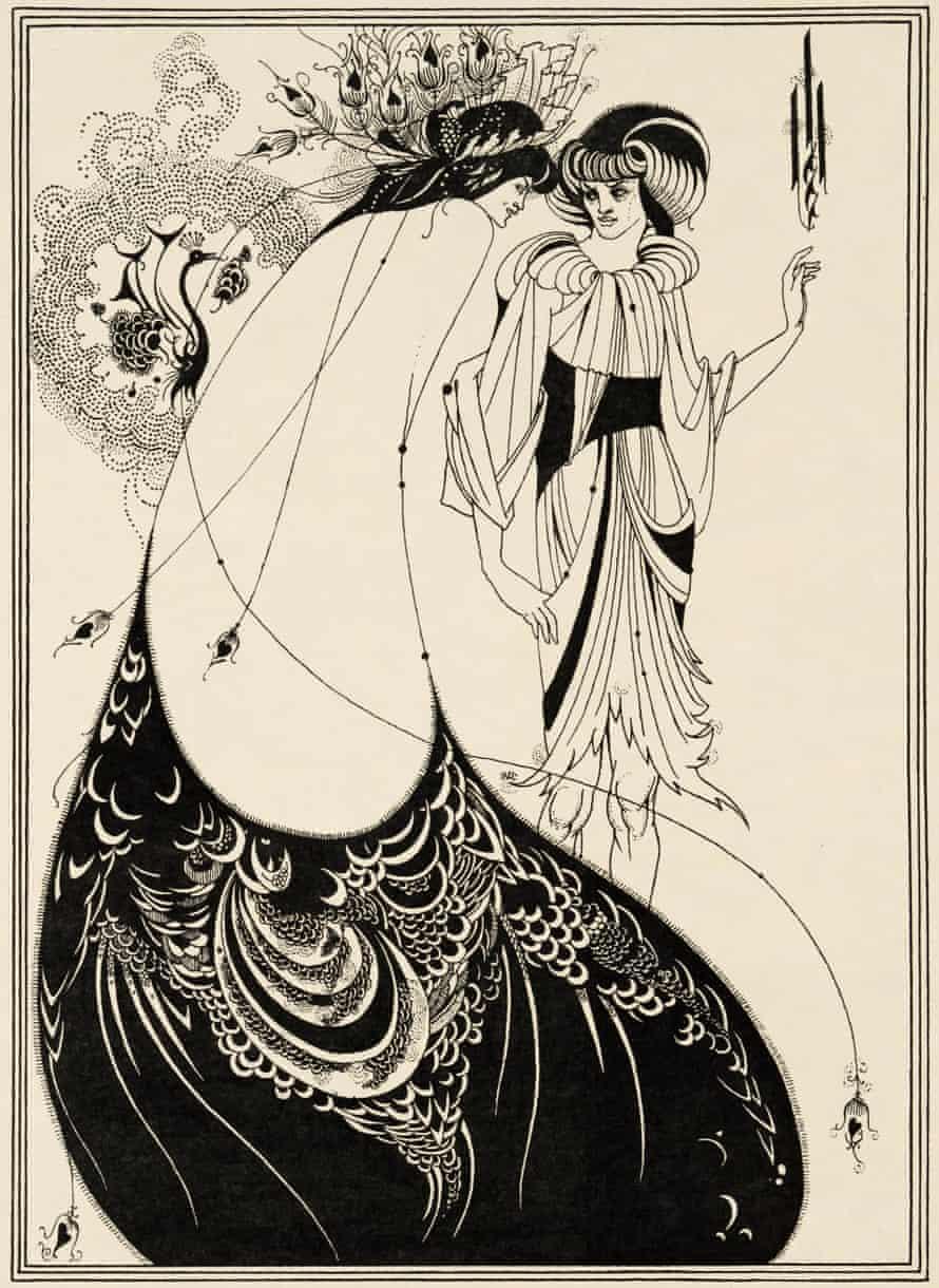 Aubrey Beardsley's illustration for Oscar Wilde's Salomé.