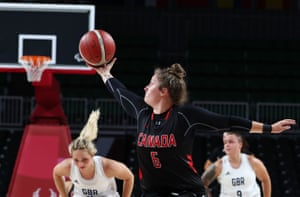 Arinn Young of Canada in action against Great Britain.