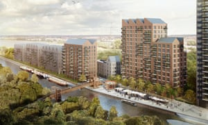 A visualisation of Hale Wharf in Tottenham Hale.