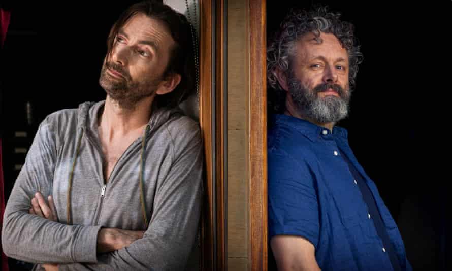 A light, charming offering ... David Tennant and Michael Sheen. Photograph: Simon Ridgeway and Paul Stephenson/GCB Films/Infinity Hill /BBC