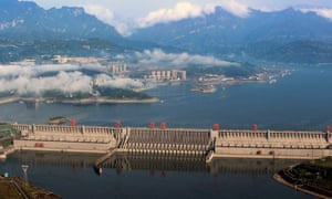 The Three Gorges Dam on the Yangtze river, Hubei province, China.