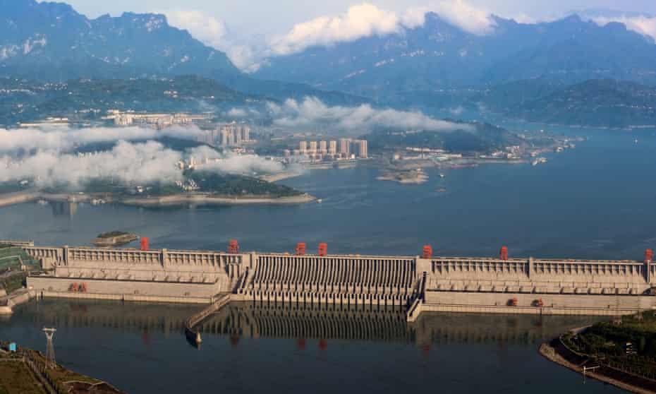 The Three Gorges Dam on the Yangtze river, Hubei province, China.