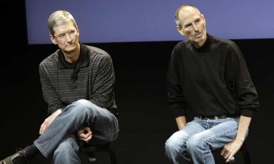Tim Cook and Steve Jobs in July 2010.
