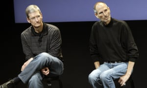 Tim Cook with his predecessor, Steve Jobs, in 2010.