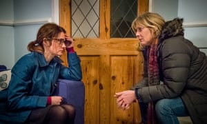 Shirley Henderson and Sarah Lancashire, two of Happy Valley's 'company of complex and fascinating middle-aged actors'.