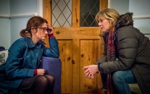 Shirley Henderson, left, with Sarah Lancashire in Happy Valley.