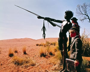 David Gulpilil, Jenny Agutter and Luc Roeg, the director's son, in his 1971 film Walkabout.