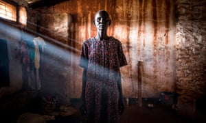 Aru, Democratic Republic of the Congo. Elizabeth, a refugee who fled fighting in South Sudan, at a transition camp.