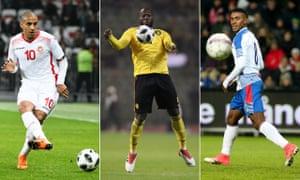 Tunisia's Wahbi Khazri, Belgium's Romelu Lukaku, and Panama's Édgar Joel Bárcenas were in action as their countries continued their World Cup preparations.