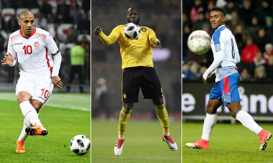 Tunisia's Wahbi Khazri, Belgium's Romelu Lukaku, and Panama's Édgar Joel Bárcenas were in action as their countries continued their World Cup preparations.