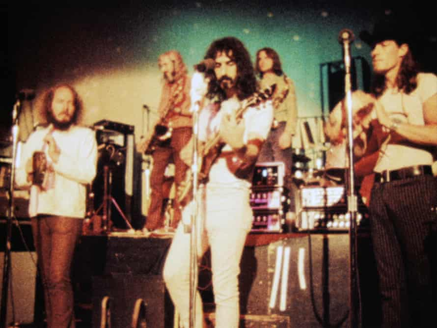 Frank Zappa performing with the Mothers of Invention.